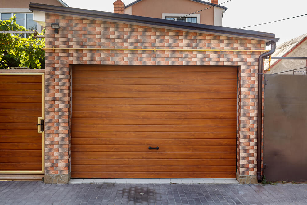 Insulated Wooden Garage Door